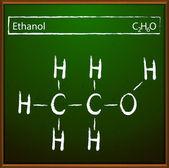 Ethanol molecular formula — Stock Vector