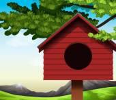 A birdhouse — Stock Vector