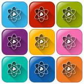 Buttons showing a science image — Stock Vector