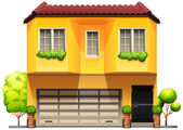 A big yellow house — Stock Vector