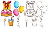 A birthday celebration — Stock Vector