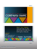 A colourful business card — Stock Vector