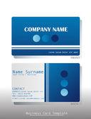 A blue business card — Stock Vector