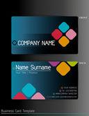 A business card template — Stock vektor