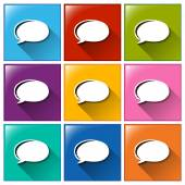 Buttons with empty callout callouts — Stock Vector