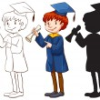 A boy graduating — Stock Vector #59842559