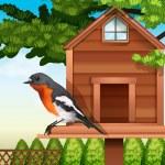 A bird at the pethouse — Stock Vector #59842673
