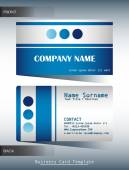 A blue and grey calling card — Stock Vector
