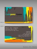 A colourful calling card — Stock Vector