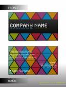 A rectangular business card — Stock Vector