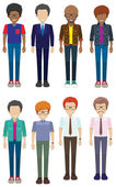 Faceless men — Stock Vector