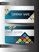 A business card template — Stock Vector