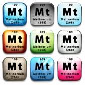 Meitnerio periódica — Vector de stock