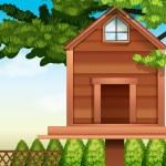 A wooden bird house — Stock Vector #60636197