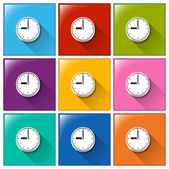 Time icons — Stock Vector