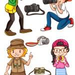 Photographers — Stock Vector #61830931