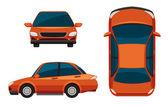 Car views — Stock Vector