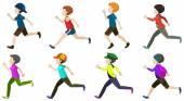 Boy running — Stock Vector