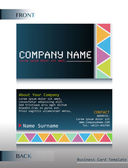 A front and back design of a card — Stock Vector