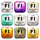 A periodic table showing Flerovium — Stock Vector