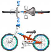 A bicycle — Stock Vector