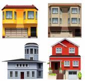Different building designs — Stock Vector