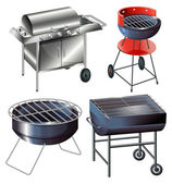 Grilling sets — Stockvektor