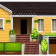 A big yellow house — Stock Vector #62927165