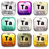 A button showing the element Tantalum — Vetor de Stock