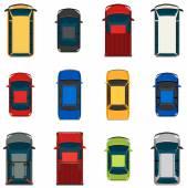 車のセット — ストックベクタ