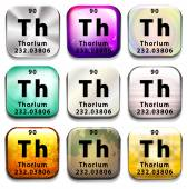 A button showing the element Thorium — Stock Vector