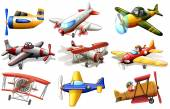 A group of planes — Stock Vector