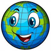 A comical image of Earth — Stock Vector