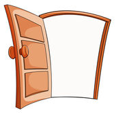 An open door — Stock Vector
