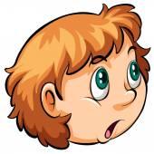 A head of a girl — Stock Vector