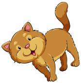 A fat cat — Stock Vector