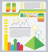 A colourful graphical representation — Stock Vector