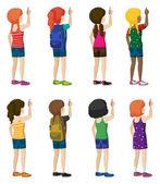 Faceless kids with fashionable attires — Vecteur