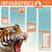 An infographics showing an animal — Stock Vector