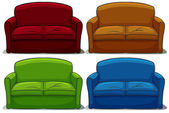 Set of sofa — Stock Vector