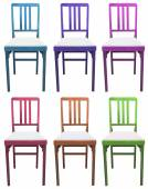 Set of chairs — Stock Vector