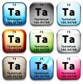 The chemical element Tantalum — Vetor de Stock