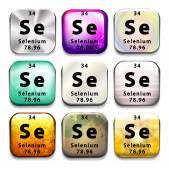 An icon showing the chemical Selenium — Stock vektor