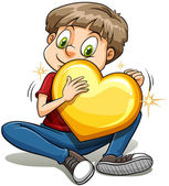 A boy with a heart of gold — Stock Vector