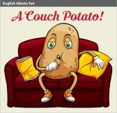 A couch potato — Stock Vector