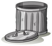 Empty grey tashcan — Stock Vector