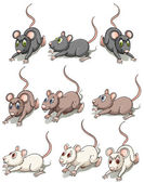 A group of mice — Stock Vector