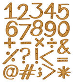 Numerical figures and symbols — Stock Vector