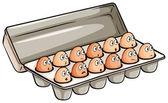 A dozen of eggs — Stock Vector