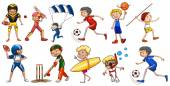 People engaging in different activities — Stock Vector